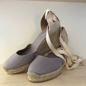 Soludos Lace-Up Espadrille Wedges